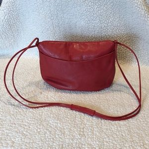 Ganson red leather (?) Shoulder bag